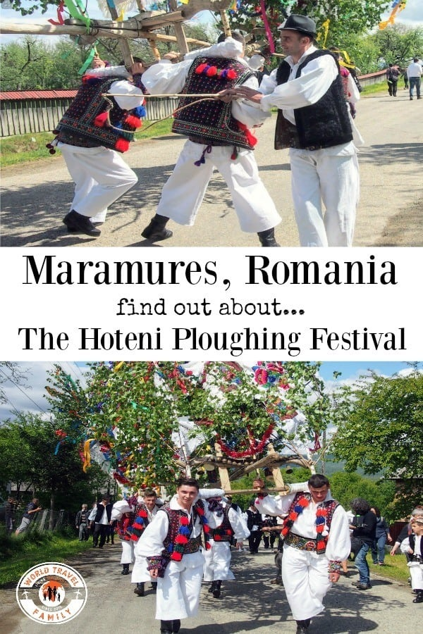 Maramures Romania the Hoteni Ploughing Festival