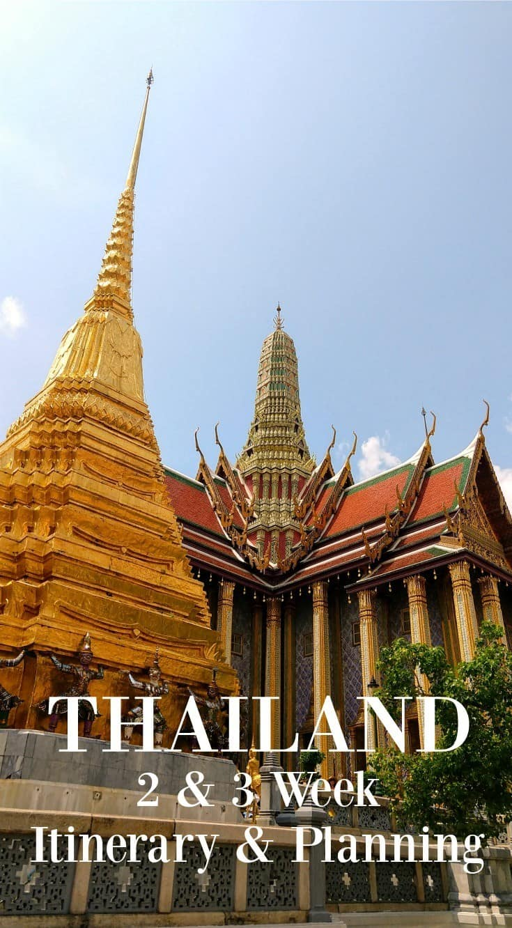 Thailand 2 week itinerary 3 week itinerary and trip planning