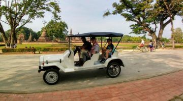 Touring Sukhothai by Golf Buggy Cart