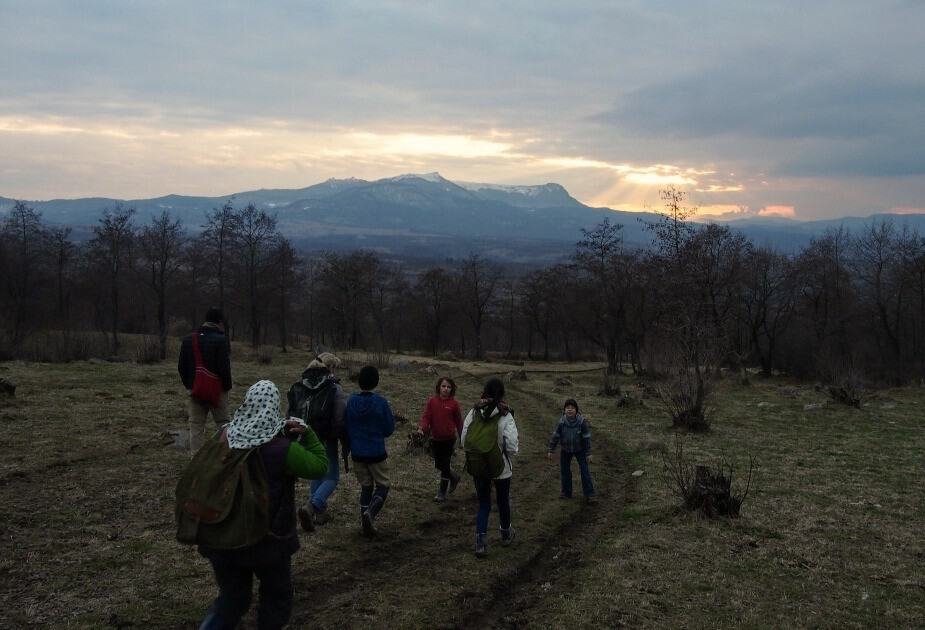 Walking in Maramures in March. Mountain