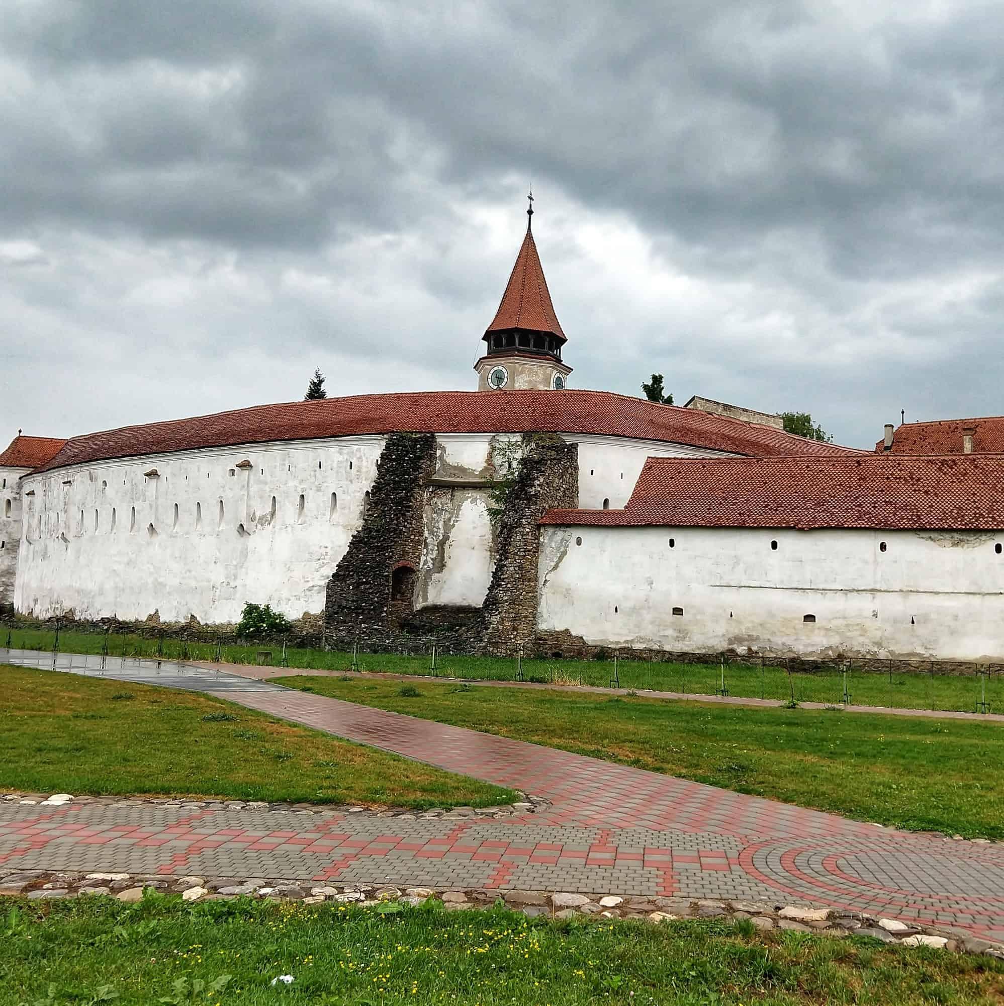 Fortified church near Brasov. Biggest in world