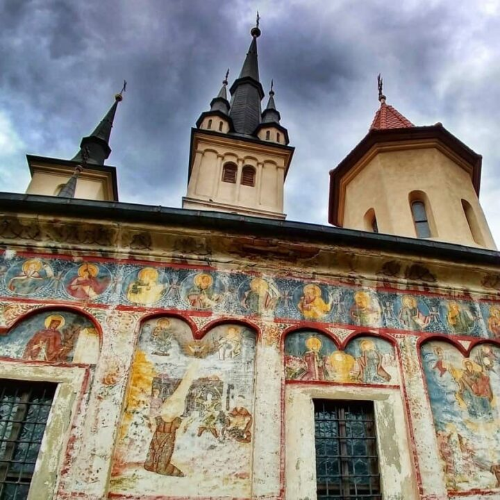 Brasov Romania. The Oldest Church in Brasov Transylvania Romania Saint Nicholas Church