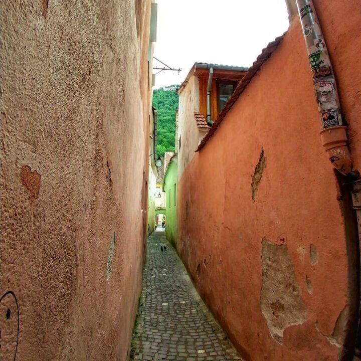 The narrowest road in Europe Brasov Romania