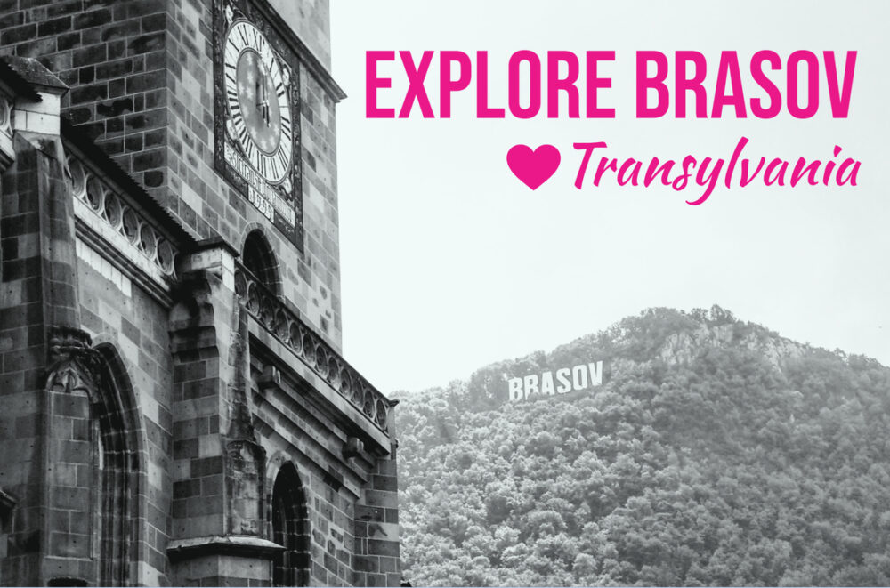clock tower and brasov sign brasov transylvania
