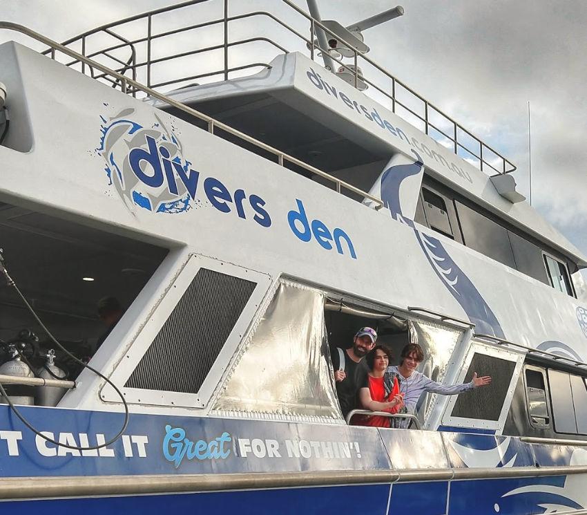 Divers Den boat Aqua Quest in Port Douglas Marina