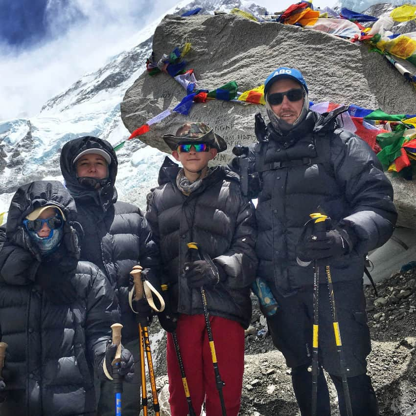 Everest Base Camp With Kids, Where the Jones family at EBC