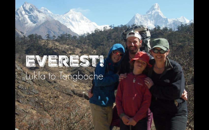Everest base camp trek with kids
