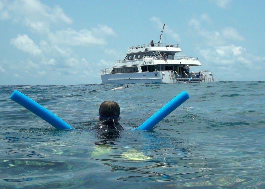 Kids on a great barrier reef tour from Port Douglas Australia