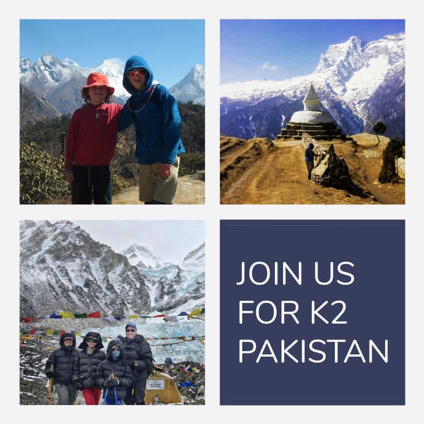 Pakistan with kids K2 trek