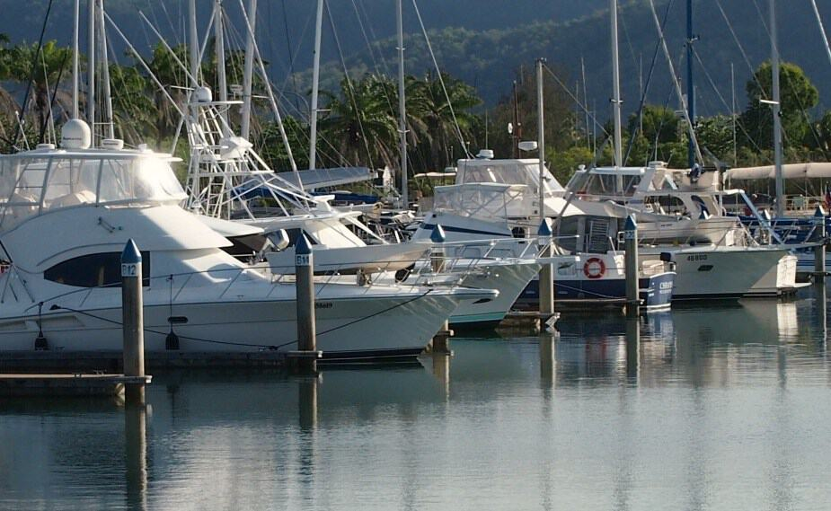 Port Douglas Reef Tours. Boats in Port Douglas Marina