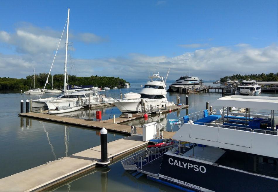 Quicksilver reef cruise boat Port Douglas Marina