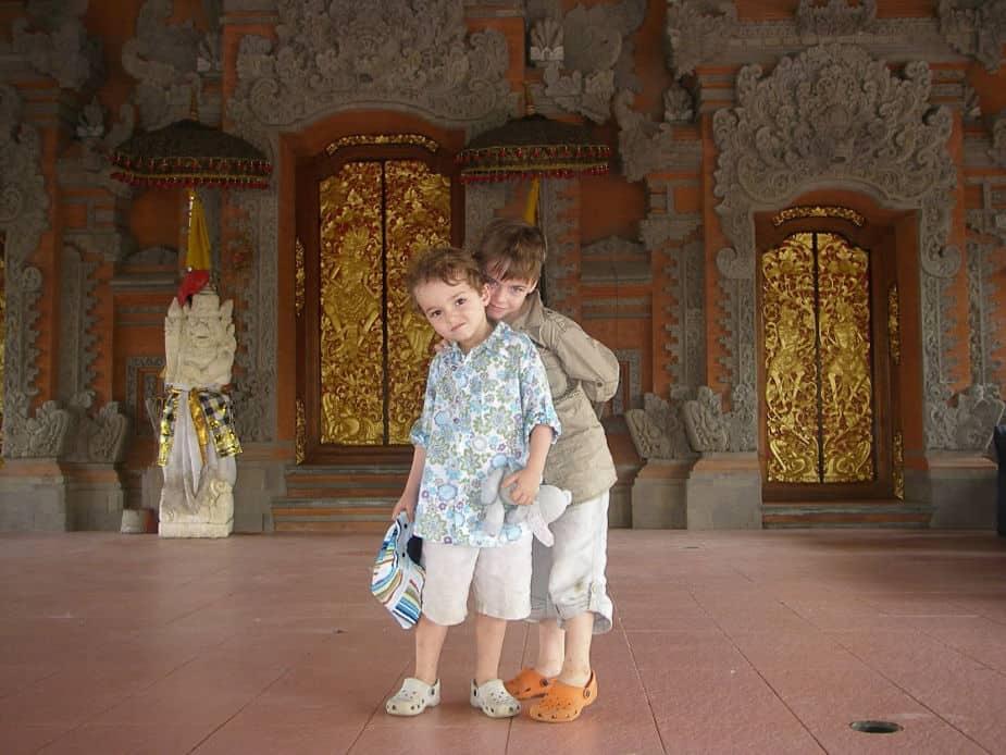 Monkey risk in Ubud Bali
