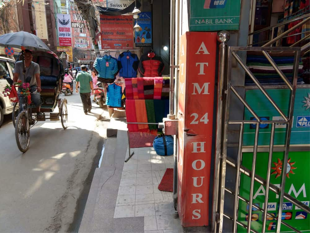 ATM or Cash point in Kathmandu near Thamel