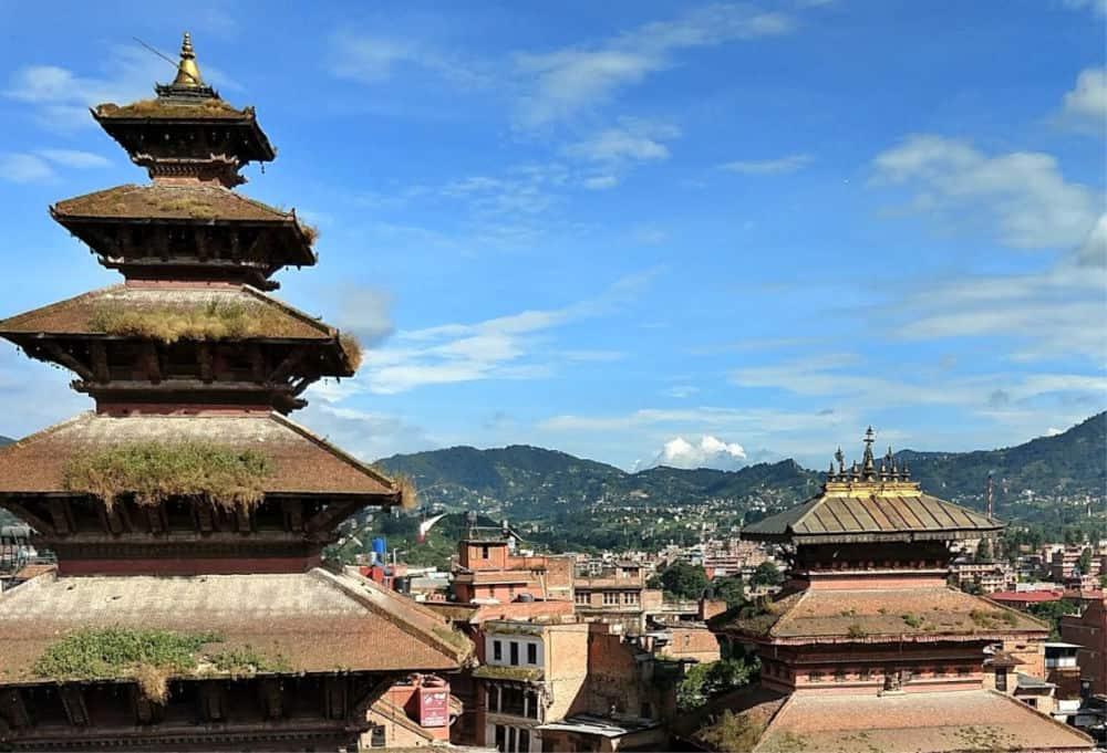 Bhaktapour view Nepal Himalayas