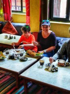 Breakfast in Thamel Kathmandu