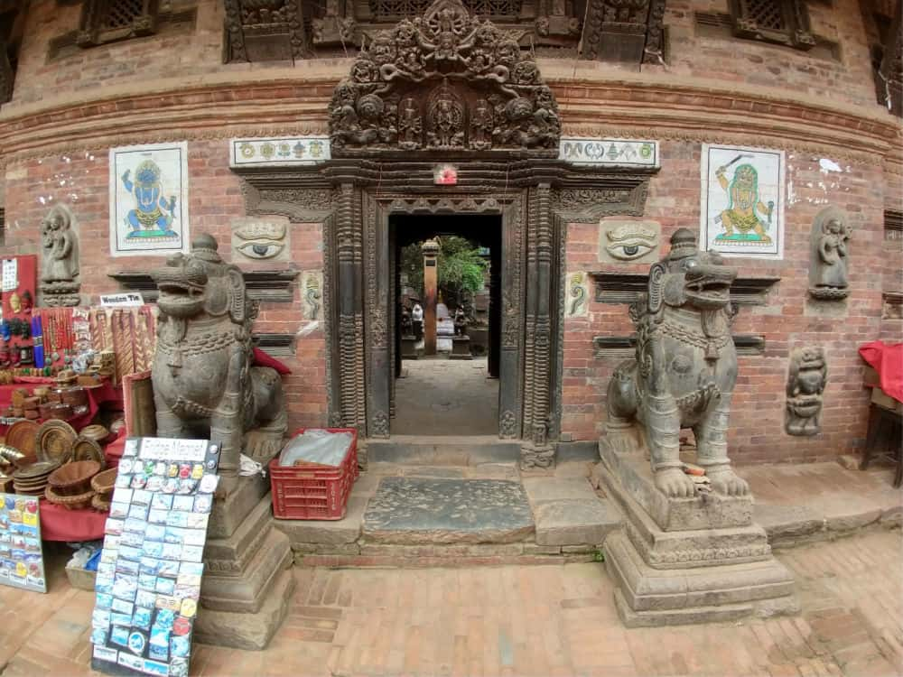 Buddhist temple or monastery in Bhaktapour