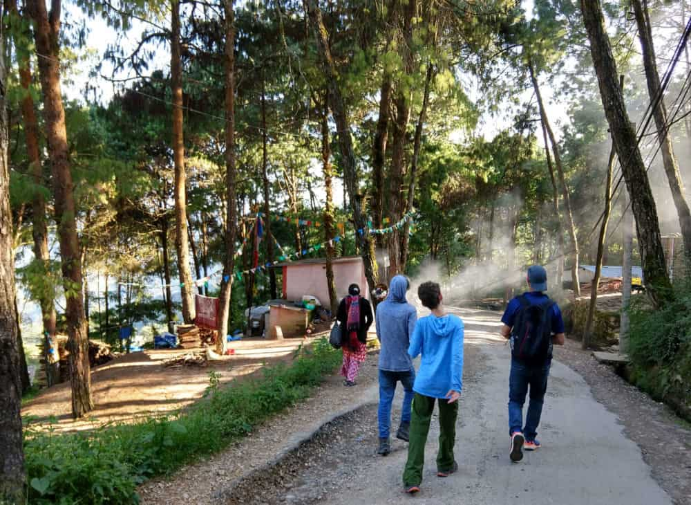 Nagarkot Nepal walking
