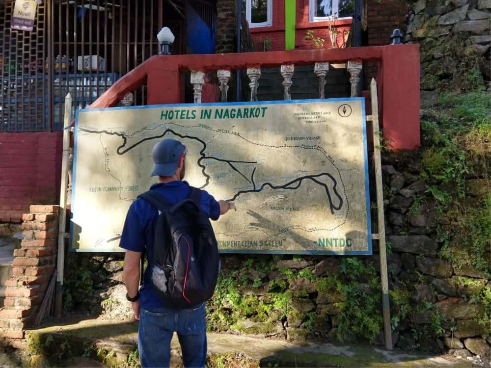 Nagarkot map Nepal