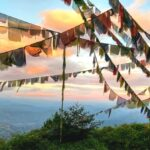 Sunset view from near the lookout tower Nagarkot