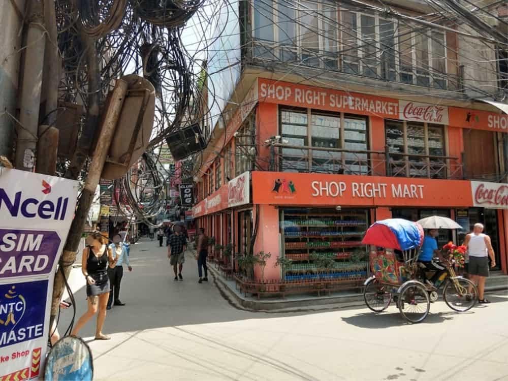 Supermarket in Thamel Khathmandu
