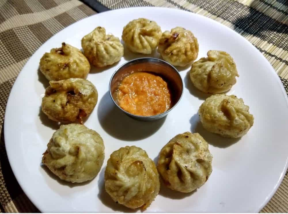 fried momos in thamel kathmandu, the best!