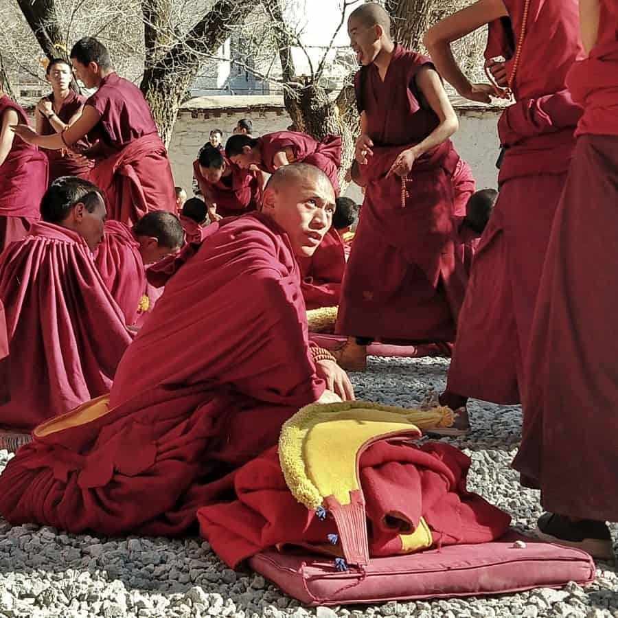 Debating Tibetan Monks Sera Monastery Tibet