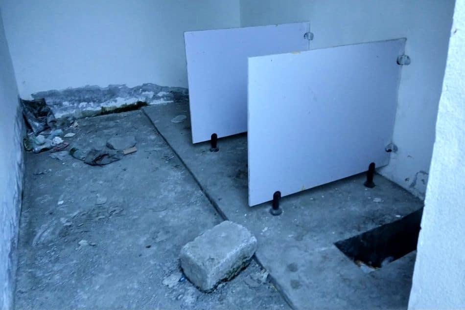 Public toilet in Tibet