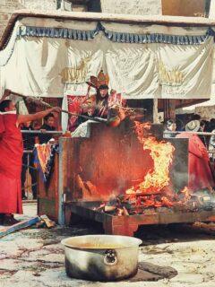 Sera Monastery Tibet Monks Ceremony