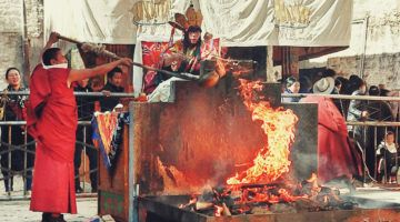 Sera Monastery Tibet Monks Ceremony