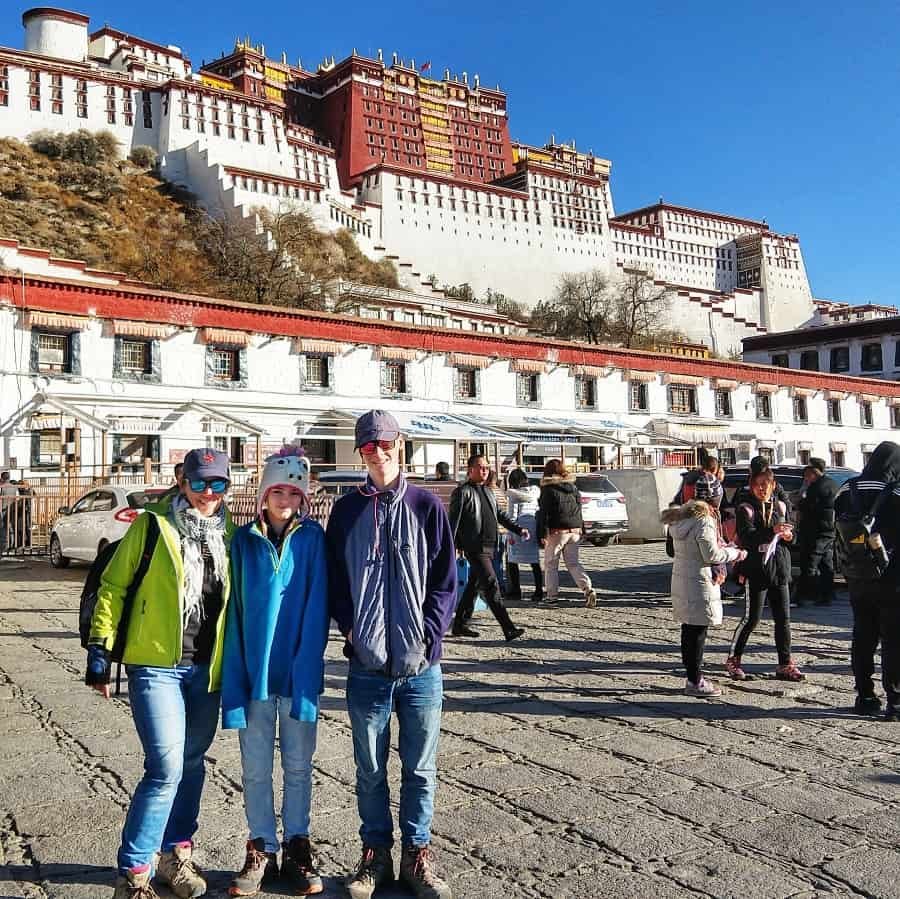 Visiting Tibet the Potala Palace Lhasa