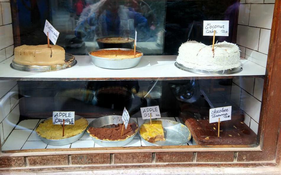 Cakes at Snowman Cafe on Freak Street Kathmandu