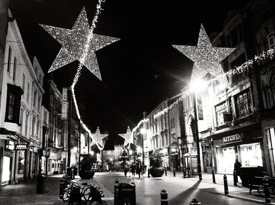 Cardiff Wales at Christmas