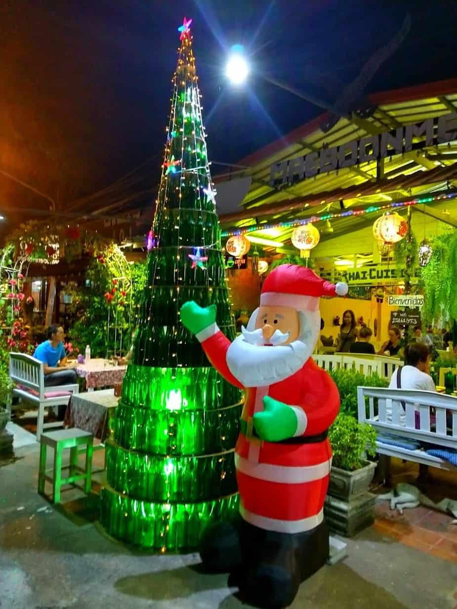 Christmas in Sukhothai Thailand