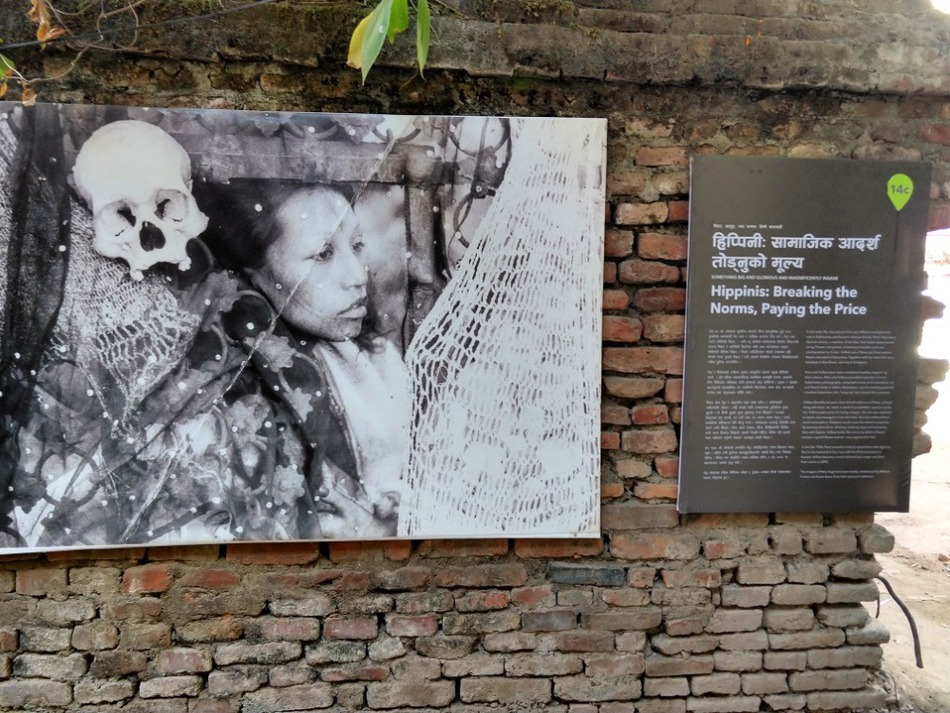 Freak Street photographic exhibition of hippies in Kathmandu