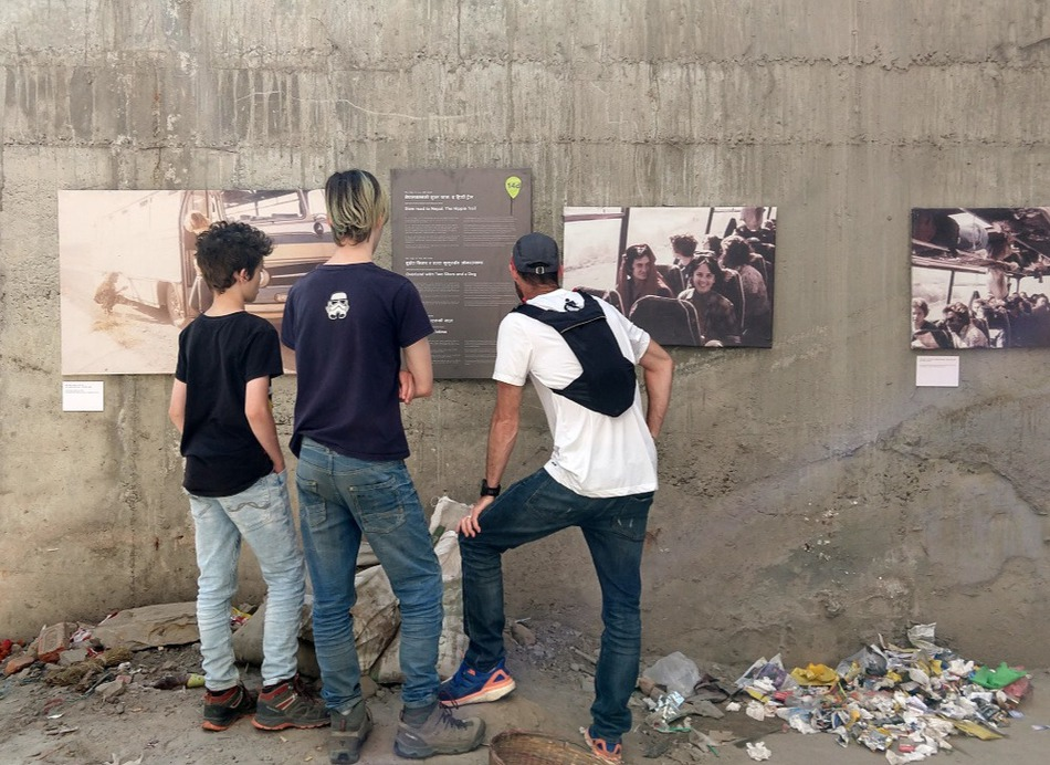 Hippie trail photographic exhibition on Freak Street Kathmandu