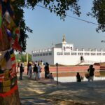 Lumbini Nepal. The place of Buddha's birth. Maya Devi Temple and the pond she bathed in before giving birth to Siddhartha Gautama
