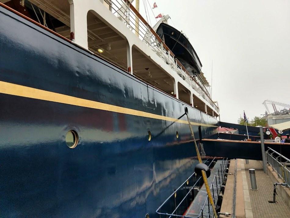 The Royal Yacht Britannia at Edinburgh