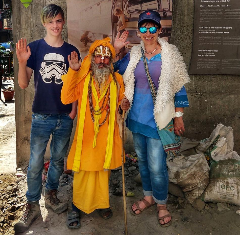 Visiting Freak Street Kathmandu Sadhu