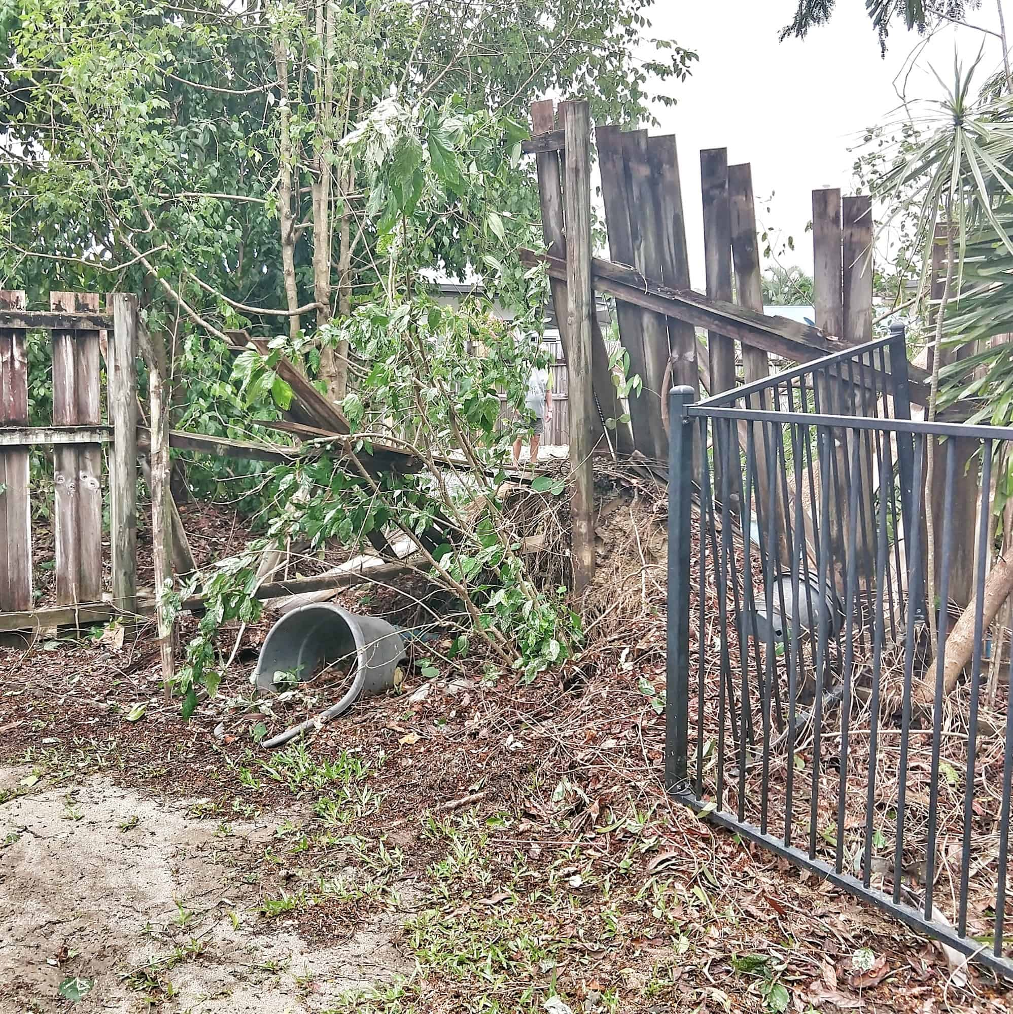 cyclone damage while away travelling
