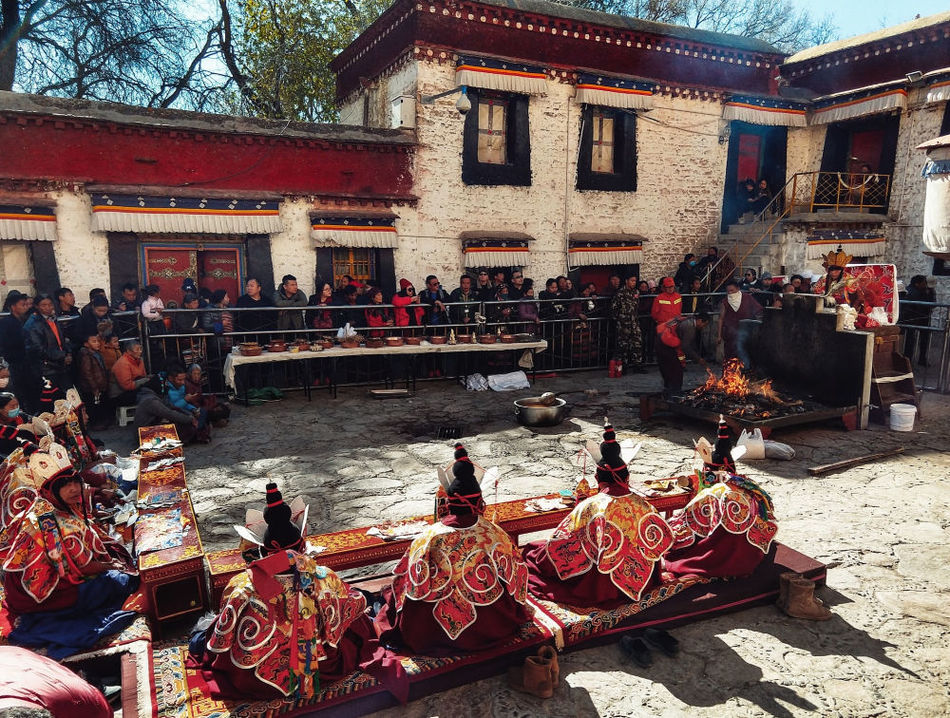 Ceremony at Sera Monastery Lhasa Tibet