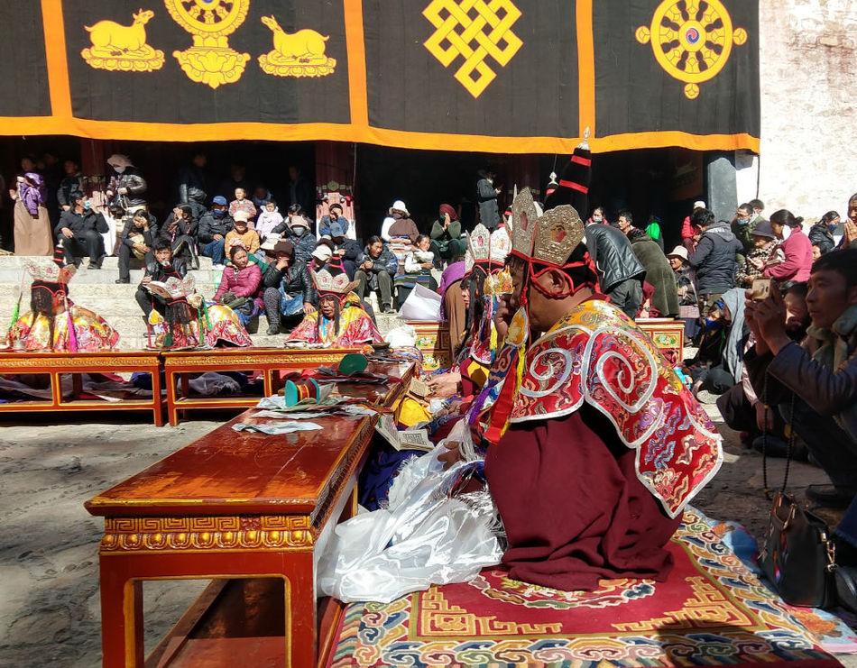 Monks at the Sera Monastery