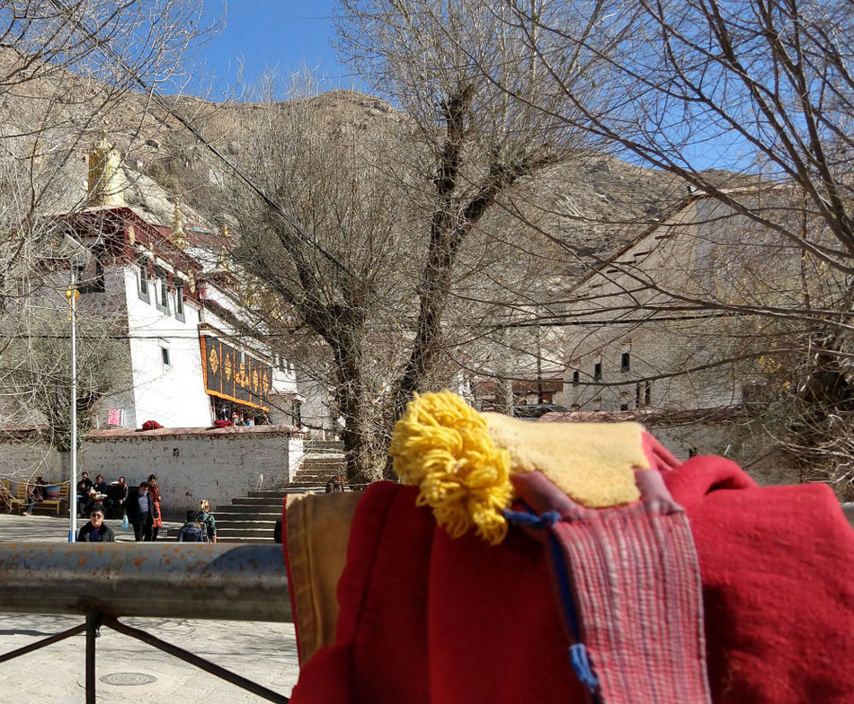 Monks robes at the sera monastery