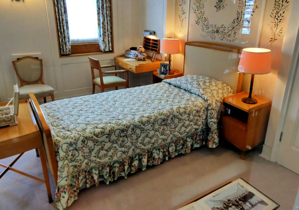 Queen's bed on the Royal Yacht Britannia