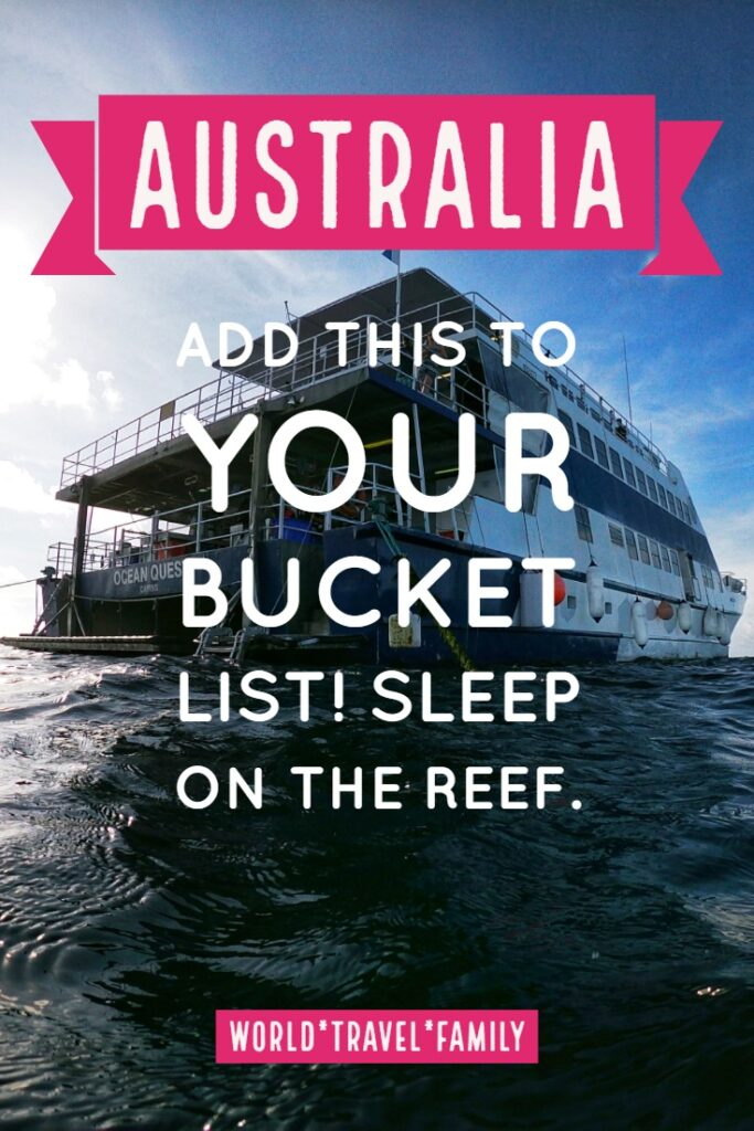Sleep on the great barrier reef on a liveaboard dive trip from cairns