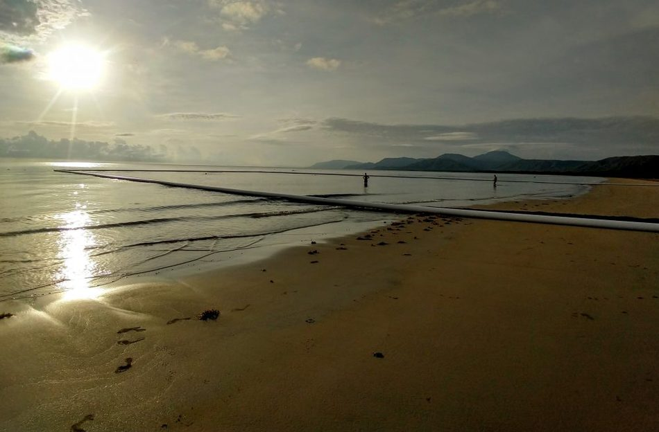 December in Port Douglas early morning on Four Mile Beach