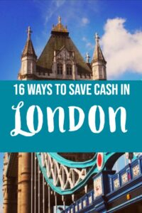 How to save money in London on vacation