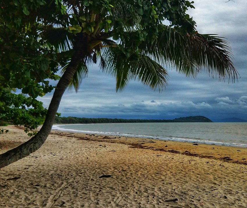 Four Mile Beach Port Douglas in May. Stormy Skies