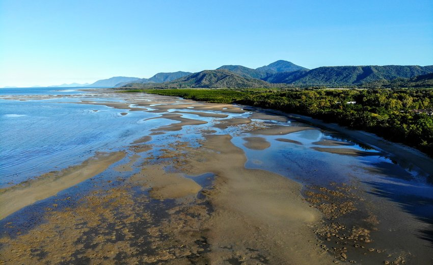 Four Mile Beach Port Douglas Low Tide May Drone Photography