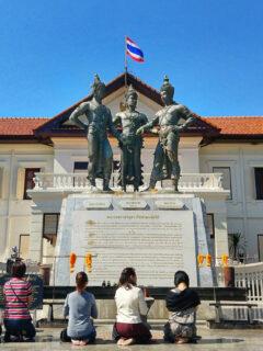 Three kings statue chiang mai