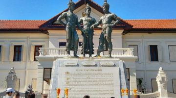Three kings statue chiang mai